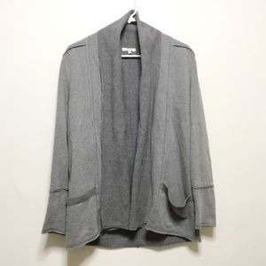 Maurice Gray Open Sweater with Pockets